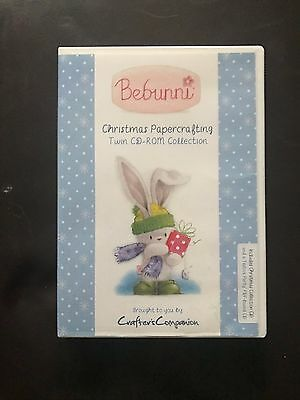 Craft DVD - Crafter's Companion Bebunni Christmas Papercrafting Twin CD-ROM