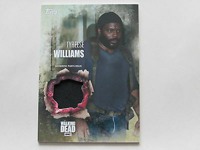 Walking Dead Season 5, Relic Card, Tyreese Williams Pants Relic, Topps