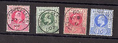 Seychelles KEVII Collection of 4 Used Values X5502