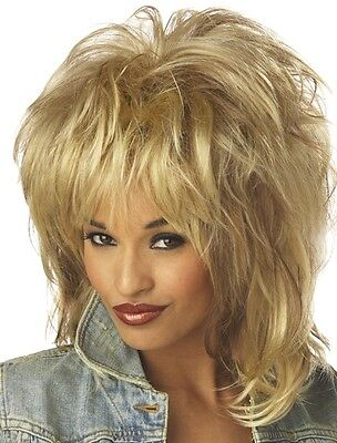 Rockin Soul Tina Turner 80s Rock Star Women Costume Wig
