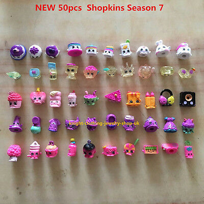 NEW !  50pcs Lots of  Shopkins  Season 7 All different Shopkins  Kids Toy