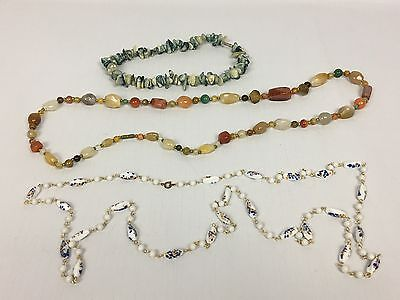 Mixed Lot Of 3 Kids Colorful Costume Jewelry Dress-Up Necklaces