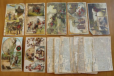 ARBUCKLE BROS 1890's Postcard Sized Trade Cards (Job Lot of 18 cards)
