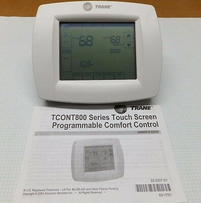 TRANE 7-Day Programmable Touchscreen Thermostat TH8110U1045 TCONT800AS11AAA