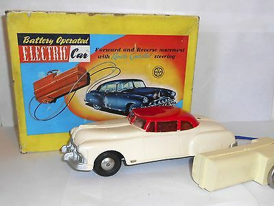Vintage Marx remote control electric car with box 1950`s  60`s working
