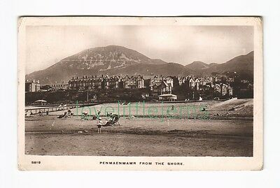 c1910 RPPC Penmaemawr from the shore WHS 5819