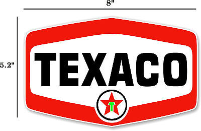 "8"" Texaco Shield Gasoline Decals Gas And Oil (Texa-12)"