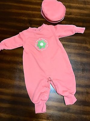 Gymboree Romper One Piece with Hat 3-6 Months Baby Girl