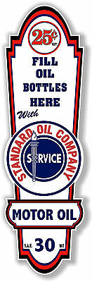 "24"" X 8"" Standard Oil Company Lubster Front Decal Lubester Oil Can / Gas Pump"