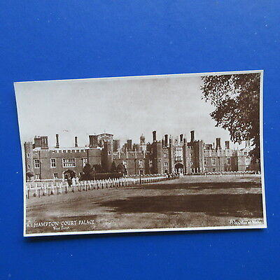 Old Postcard of Hampton Court Palace. West Front.