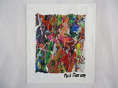 Phil Pierre - BUBBLE GUM 304 - new original abstract acrylic painting on board