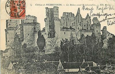 60 Pierrefonds Chateau Ruines Avant Restauration Nd