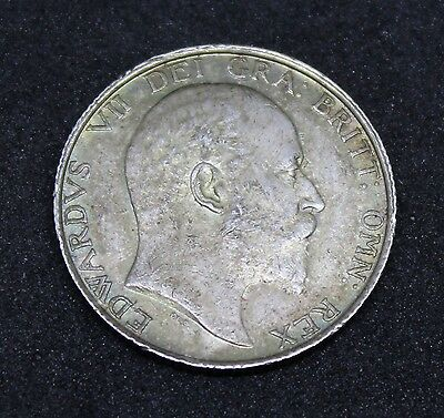 ~~ Great Britain Edward VII 1902 Silver Shilling ~~