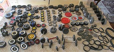 Vintage Lot of 150 + Toy Tires Wheels Rubber Metal wood tonka  Buddy L Structo