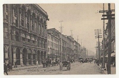 Very early Postcard of McGill Street, Montreal; Quebec, Canada