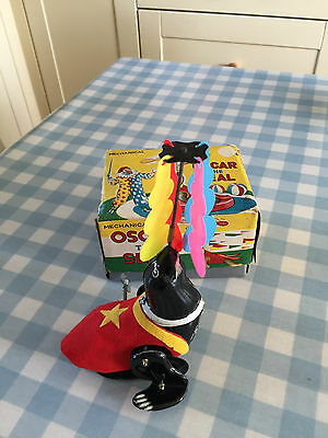 Vintage Japanese Tps Clockwork Toy - Oscar The Seal With Box