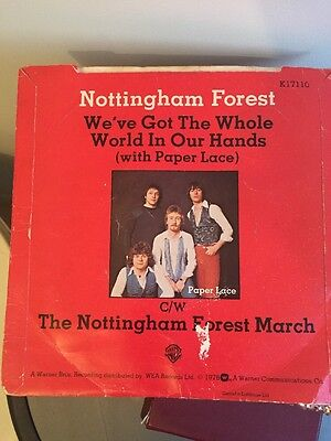 Nottingham Forest Mini Disc Record (we've Got The Whole World In Our Hands)