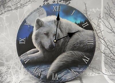 'guardian Of The North'  Large Wolf Picture Wall Clock - Lisa Parker Design
