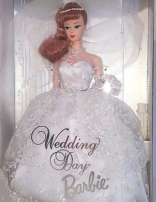 Wedding Day Barbie 1961 Reproduction 1996 Collector Edition Red Hair Excellent