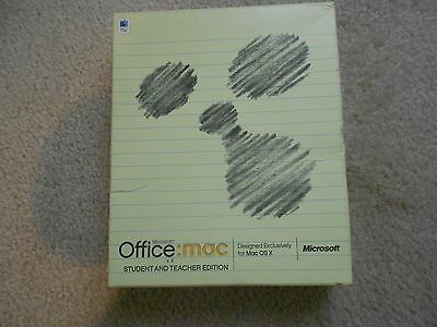 Microsoft 2003 Office Mac Student/Teacher Edition