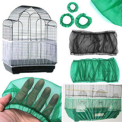 Nylon Mesh Bird Seed Catcher Guard Cover Shell Skirt Traps Cage Basket