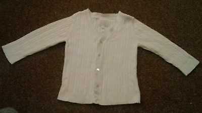 emile et rose baby white cardigan 18 months