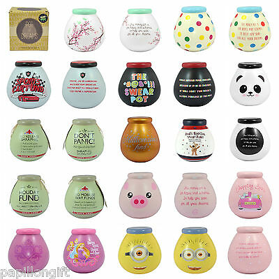 Pot Of Dreams Ceramic Money Box Pots Savings Fund Save Coins Piggy Bank Novelty