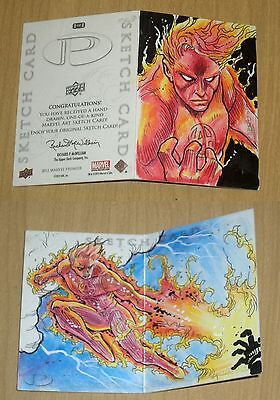 2012 Marvel Premier double hinged 3-sketch panel card artist unknown