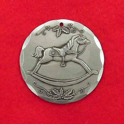 1985     ROCKING HORSE    WENDELL AUGUST FORGE   ALUMINUM  CHRISTMAS ORNAMENT 7a