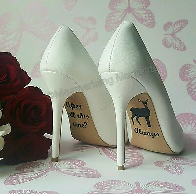 Harry Potter Wedding Shoe Decal / After All This Time? Always - Snape and Lily