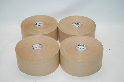 """Shurtape WP300 Natural Heavy Duty Grade 3"""" x 450' Water Activated Tape Lot of 4"""