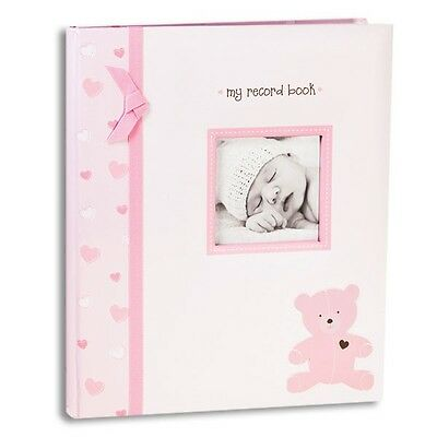 Baby Record Books : L'il Peach PINK BEAR BABY RECORD BOOK Girl Pink Book NWT