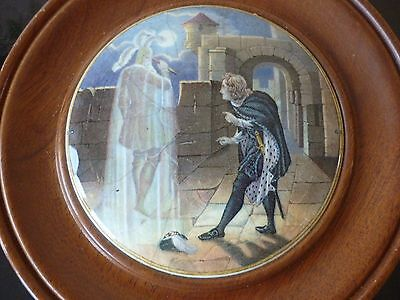 Prattware pot lid hamlet and his fathers ghost