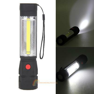 COB 1200LM LED Magnetic END Work Light Inspection Flashlight 4 x AA Lamp Torch