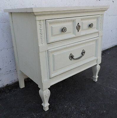 French Painted Nightstand Side End Table by Dixie 8199