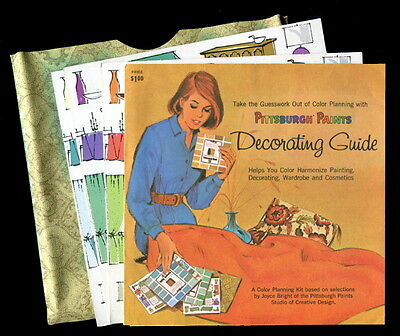 Vintage Mid Century DIY Decorating Color Kit Pittsburgh Paint w 200+ Chips 1960s