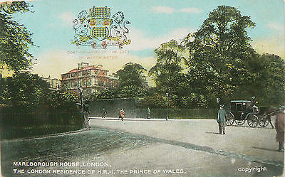 TOPOGRAPHICAL POSTCARD.MARLBOROUGH HOUSE RESIDENCE OF HRH PRINCE OF WALES.1900's