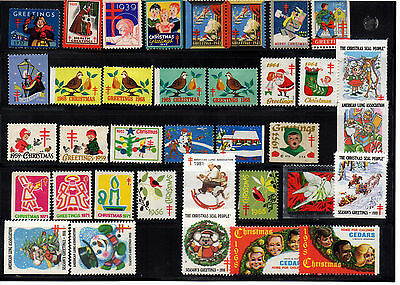 USA 36 Cinderell stamps 1937-1990 (National tuberculosis associations) Scott cat