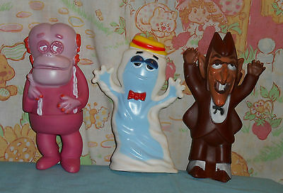vintage monster cereal FRANKENBERRY & BOO BERRY & COUNT CHOCULA vinyl figure lot