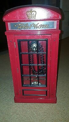 British Red Vintage telephone box real phone for home. For parts/decorative.