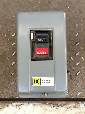 Square D Class 2510 Manual Motor Starter Switch NEMA M-0 115/230V 600V 1PH 1/2HP