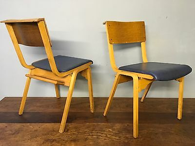 Tecta Chairs Bistro Cafe Industrial Stacking Bentwood Mid Century Vintage School