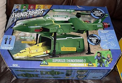 BRAND NEW Supersize Thunderbird 2 with Thunderbird 4 Playset - Age 3 +
