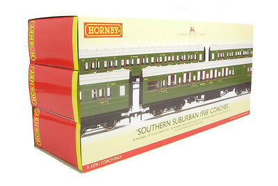 Hornby R4378 SR Maunsell High Window Southern Suburban 1938 Coaches Coach Pack