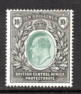 Nyasaland.  B.C.A. Ed VII  Ten Shillings  stamp.   10/.   Issued 1903,   SG. 65