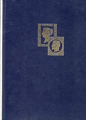 STAMP STOCKBOOK Quality Veloflex Blue, white pages 16 pages (32 sides) 9 strips