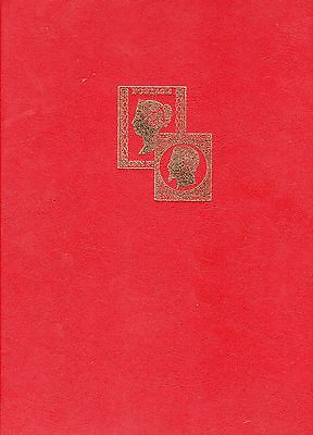 STAMP STOCKBOOK Quality Veloflex RED, white pages 16 pages (32 sides) 9 strips