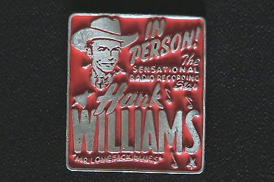 """Hank Williams Sr """"in Person"""" Red Enamel Painted Buckle A Rare Classic In Ex-Cond"""