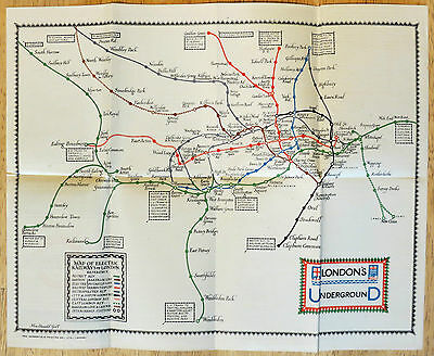 Original 1922 London Underground Map -  Macdonald Gill *95 years old MINT*