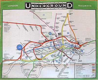 Original 1909 London Underground Map - Among the earliest unified maps